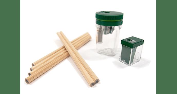 TSUNAGO×東急ハンズ ハンズ想いをつなぐギフトセット (ひのきのえんぴつ×6本/TSUNAGO®(東急ハンズ限定カラー)×1個 /削り具合が調節できる小さな鉛筆削り器(東急ハンズ限定カラー)×1個)